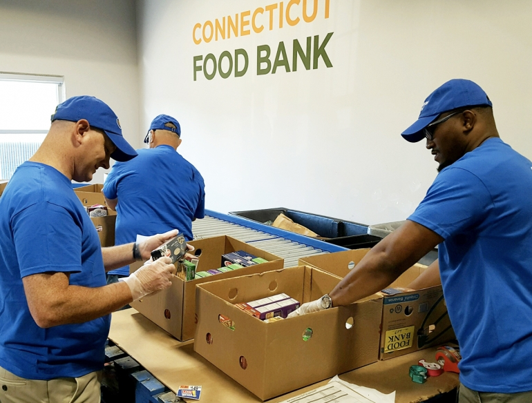 Webster in the community - CT Food Bank